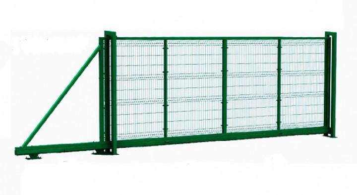 Откатные ворота 8 2 монолит ворота
